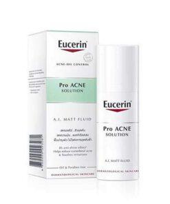ฟลูอิดสิว Eucerin ai matt fluid จาก pro acne